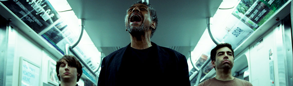 Picture of Giancarlo Esposito singing in Stuck.